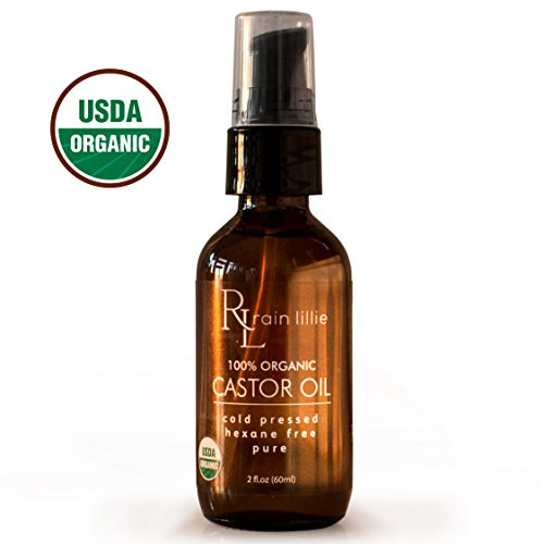 Organic Castor Oil for Hair Growth, Cold Pressed