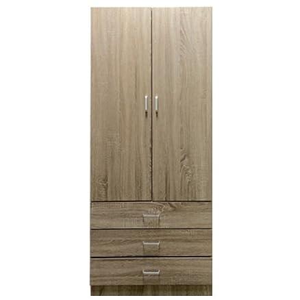Lyon Sonoma Armadio a 2 ante e 3 cassetti, effetto legno di quercia