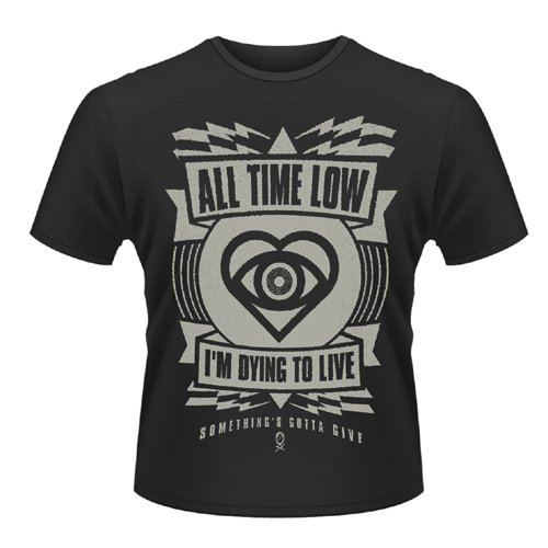 Playlogic International(World) - All Time Low Hypno, T-shirt da uomo, nero (black), S