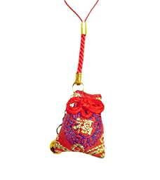 Japanese Luck Charm: Lucky Bag - Red Blue Good Fortune