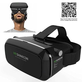Jgmax VR Headset - 3D VR Glasses - Virtual Reality Headset for iOS and Android Smartphones within 3.5-6 Inches