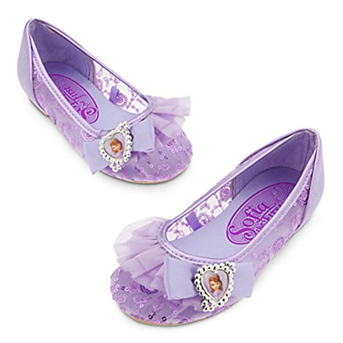 Disney Store Little Girls Sofia the First Shoes Sz 11/12 Purple