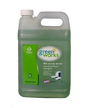 Green Works 30388 Natural Manual Pot and Pan Liquid Detergent, Original, 128 fl oz Can