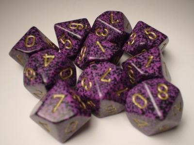 Chessex Dice Sets: Hurricane Speckled - Ten Sided Die d10 Set (10)