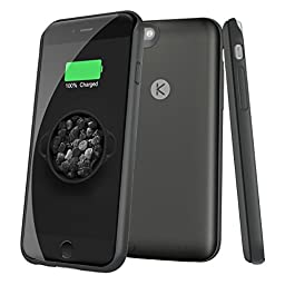 iPhone 6 6S Battery Case SOLEMEMO Ultra Slim Charging Case External Battery Case Portable Charger for iPhone 6 6S 4.7 inches with 2400mAh (Black)