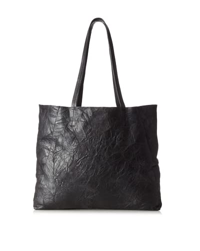 Streets Ahead Women's Classic Small Tote, Rich and Wrinkled Black