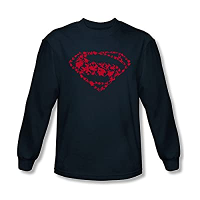 Superman Man of Steel Supes Shape Shield Long Sleeve T-Shirt