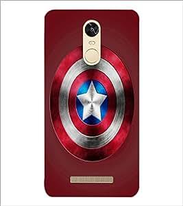 PrintDhaba Captain America Shield D-3328 Back Case Cover for XIAOMI REDMI NOTE 3 PRO (Multi-Coloured)