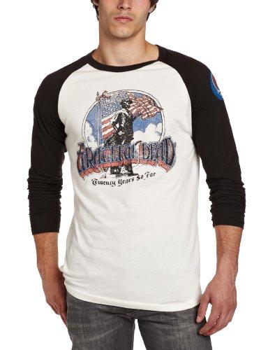 Junk Food Captain America Men/'s Raglan Top