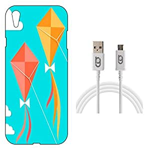 Designer Hard Back Case for Oppo F1 Plus with 1.5m Micro USB Cable
