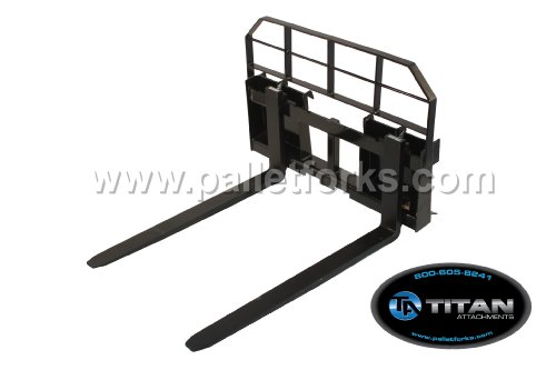 Titan HD Pallet Fork Attachment 48 Inch for Skid Steers and Tractors quick tach