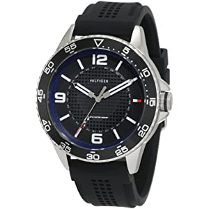 Tommy Hilfiger Men's 1790835 Sport Stainless Steel case and black silicon strap Watch