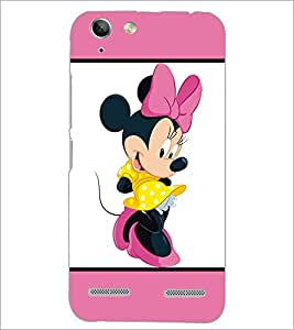 PrintDhaba Minnie Mouse D-1302 Back Case Cover for LENOVO A6020a46 (Multi-Coloured)