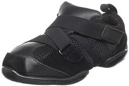 Dance Class  JS301 jazz sneaker (Little Kid/Big Kid),Black,3.5 M US Big Kid