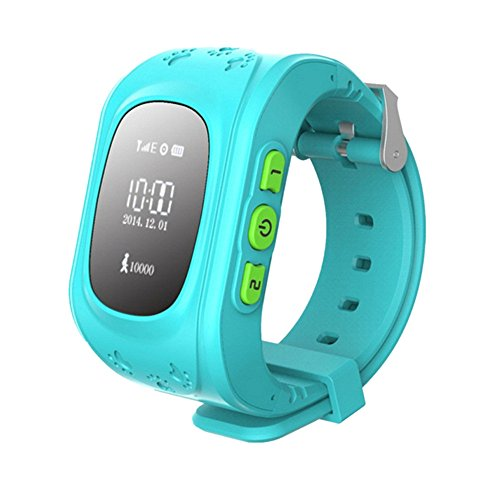 SinoPro Q50 Children Smart Watch Kids Wrist Watch with Anti-lost GPS Tracker SOS Call Location Finder Remote Monitor Pedometer Functions Parent Control By iPhone and Android Smartphones (Blue) (Att Sim Card Number compare prices)