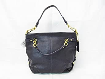 Coach Leather Brooke Shoulder Hobo Bag Purse 14142 Black 96