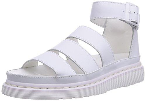 Dr. Martens Clarissa Sandali con cinturino alla caviglia, Donna, Bianco, 36