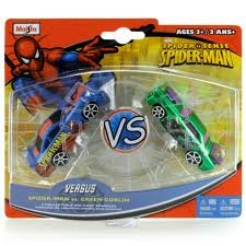 Spider Sense Spider-man Versus 2 Collectible Die-cast Vehicles Set - Spider-man Vs. Green Goblin
