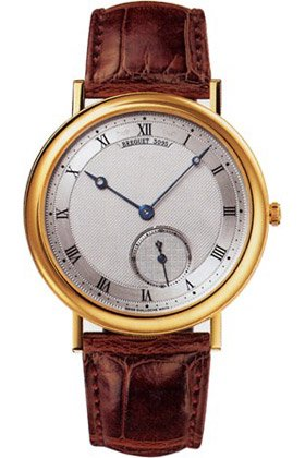 Breguet Classique Silver Dial Automatic 18kt Rose Gold Brown Leather Mens Watch 5140BA129W6