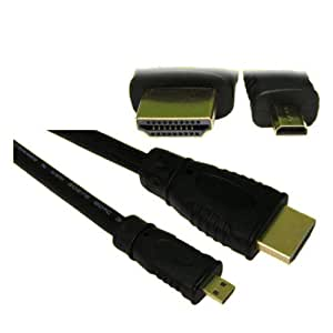eGAZS(TM) 1.8m 6 feet Micro HDMI to HDMI Cable to Connect Amazon Kindle Fire HD to TV LCD
