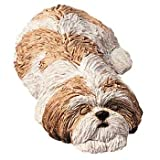 Sandicast Shih Tzu Snoozer - gold/white