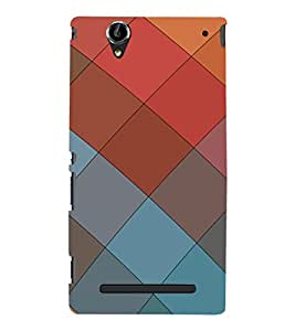 EPICCASE squares Mobile Back Case Cover For Sony Xperia T2 (Designer Case)