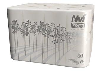 "26821 Nvi LoCor Llanura Bath Tissue, 2 capas, 3.85 ""x 4.05"", 1 000"