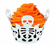 Wilton 415-0510 Halloween Skeleton Cupcake Wraps, 18 Count