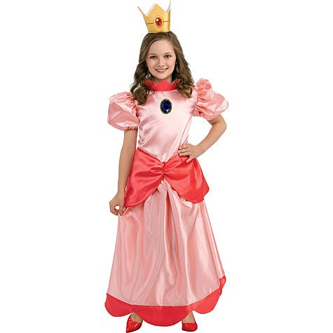 Kids Princess Peach Costume