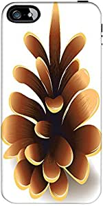 Snoogg Pinecone Vector Element Designer Case Cover For Apple Iphone 4 / 4S