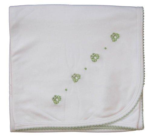 Kissy Kissy Baby Boys Homeward Bound Froggie Embroidered Blanket-One Size