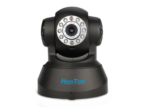 (PROMO) HooToo® HTIP206(Black) Indoor 0.3 Mega Pixel RJ45 Wireless IP Network Surveillance Camera (802.11 b/g, 1/4