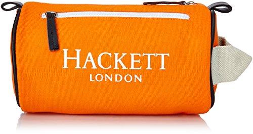 Hackett London Peterfield Washbag - Bustina per uomo, Arancione, taglia unica