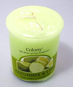 Wax Lyrical Colony Homescenter Votives Candle Cucumber & Lime by Wax Lyrical