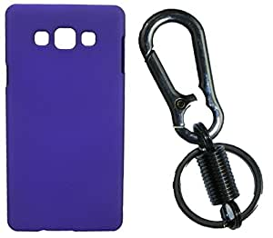XUWAP Hard Case Cover With Matallic KeyChain For Samsung Galaxy E5 - Purple