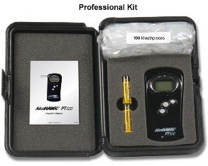 Cheap AlcoHawk PT500 Alcohol Breathalyzer Pro Kit detects BAC via PT Core fuel-cell technology (AlcoHawk PT500 Prof Kit (1 unit))
