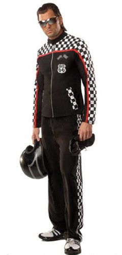 Mens Nascar Guy Race Car Driver Outfit Costume Adult S/M