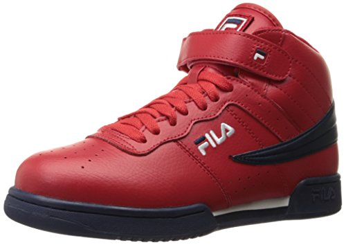 Fila Men's F-13V LEA/SYN Fashion Sneaker, Fila Red/Fila Navy/White, 10 M US