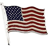 USA Flag Lapel Pin Sterling Silver