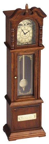 オルゴール ミニアンティーク 振り子時計 おじいさんの古時計
