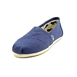 New TOMS Women\'s Classic Slip On Navy Canvas 7.5