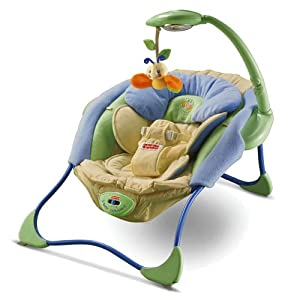 fisher price papasan infant seat blue green baby. Black Bedroom Furniture Sets. Home Design Ideas