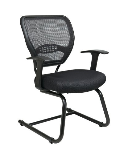 Office Star Products 5505 Executive Guest Chair, 26-1/2 in.x26-1/2 in.x37-1/4 in., Black