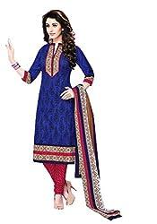 Aarvi Women's Cotton Unstiched Dress Material Multicolor -CV00122