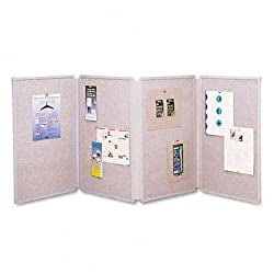 Quartet 773630 Quartet Tabletop Display Presentation Board, Fabric, 72 x 30, Gray