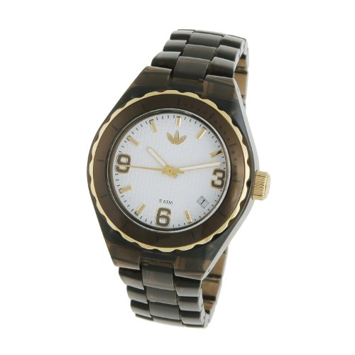 Adidas Unisex 35mm Cambridge Watch Adh2553 with White Dial and Brown Nylon Bracelet