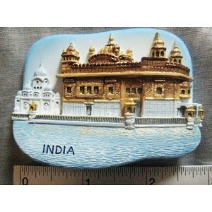 The Golden Temple India Indian Sikh High Quality Resin 3D fridge Refrigerator Thai Magnet Hand Made Craft