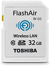 Comprar Toshiba FlashAir W-03 - Tarjeta de memoria SecureDigital de 32 GB, blanco