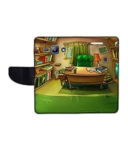 KolorEdge Printed Flip Cover For Samsung Galaxy J1 Multicolor - (1476-45KeMLogo09653SamJ1)