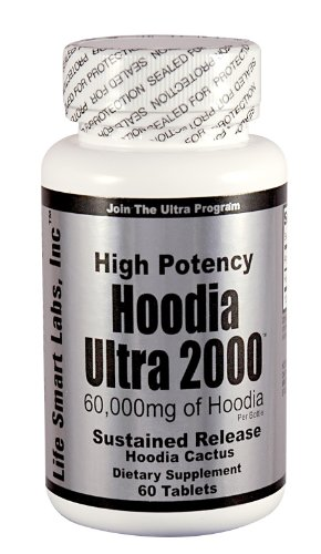 Hoodia Ultra 2000 Time Release High Potency 60,000 Mg Of Hoodia Per Bottle
